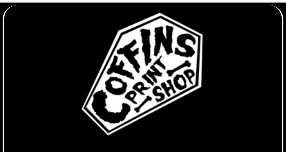 Coffin's Print Shop    Coffin's is Orlando premier printshop for all your merch needs including but not limited to t-shirts, posters, flyers, cd's and any other print needs.    Click on image for more info.
