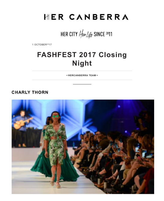 HER CANBERRA Fashfest 2017 Closing Night