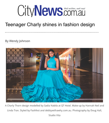 CITY NEWS Teenager Charly Shines In Fashion Design