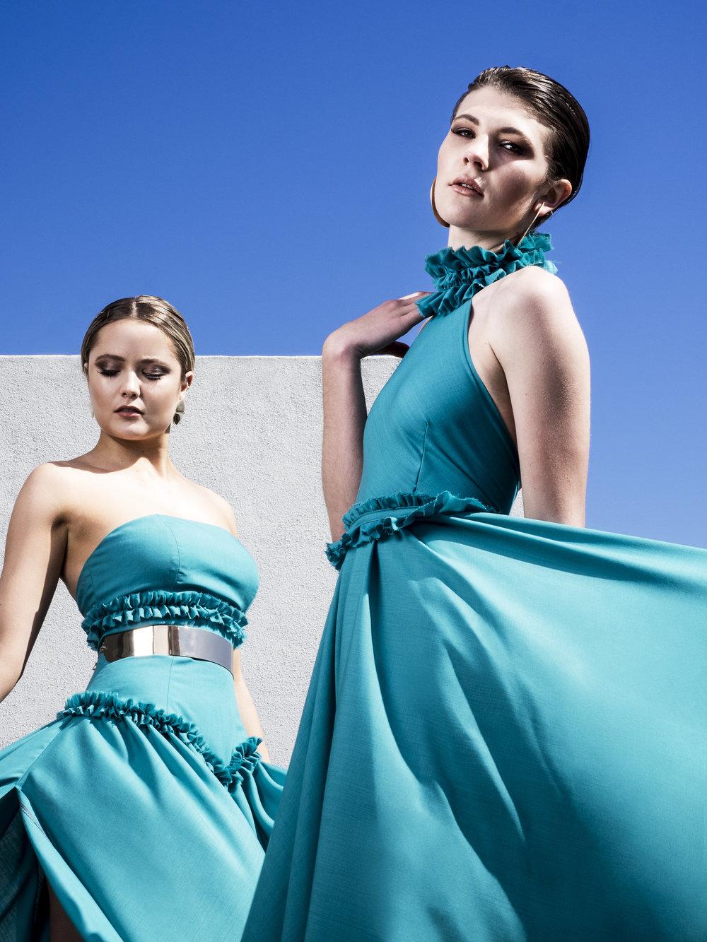 Photo: Alec Morris. Models: Jade Meyers, Annagh Weston. Makeup: Tash Pascoe