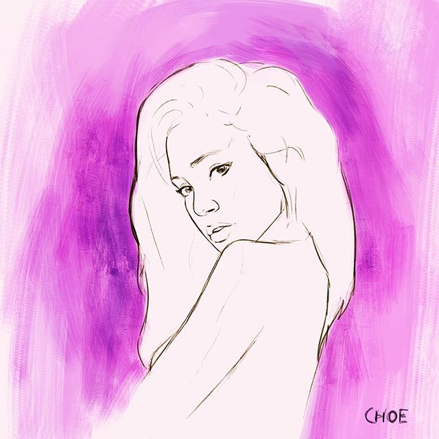 Sketching pretty girl @taiaysha  ____________ #art #illustration #pink #purple #girl #hot #drawing #portrait #pretty #linedrawing #artistsoninstagram