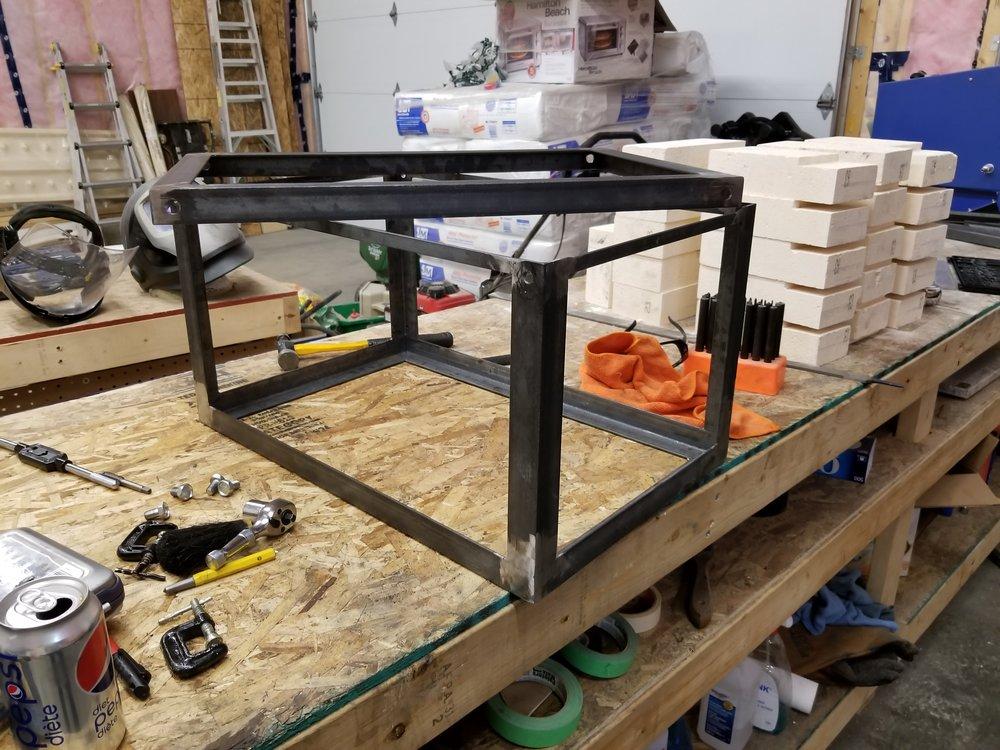 Frame started. Lid on top.