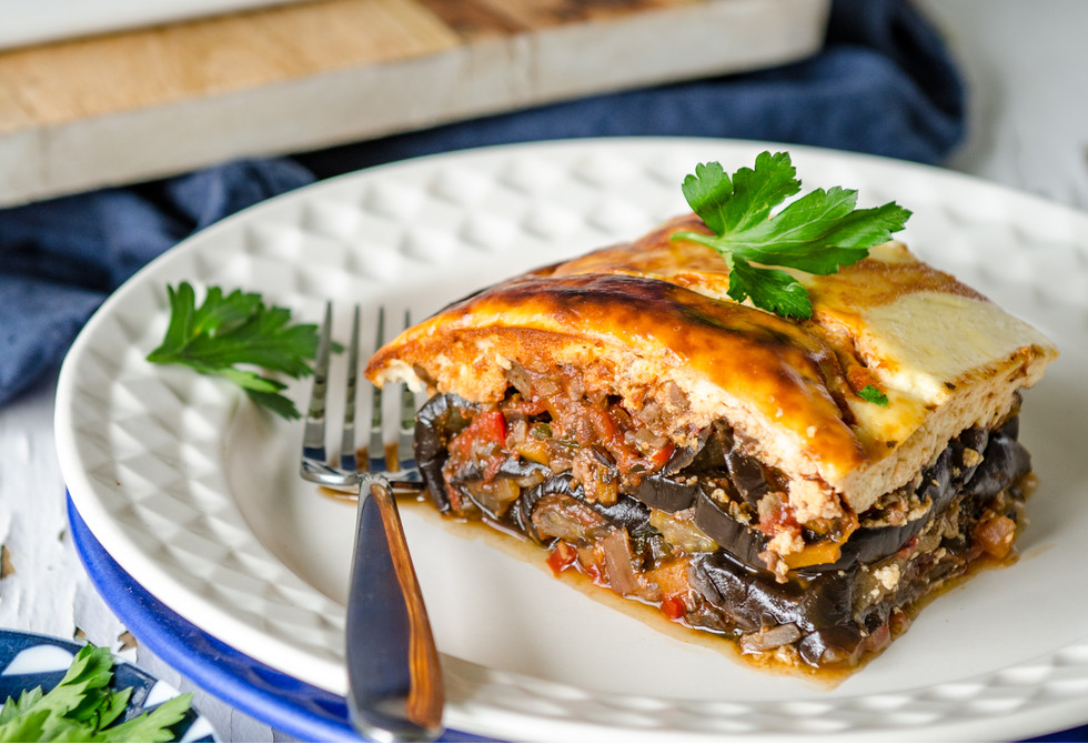 Greece - Moussaka is a hearty dish featuring the main ingredients of eggplant/aubergine and mince.