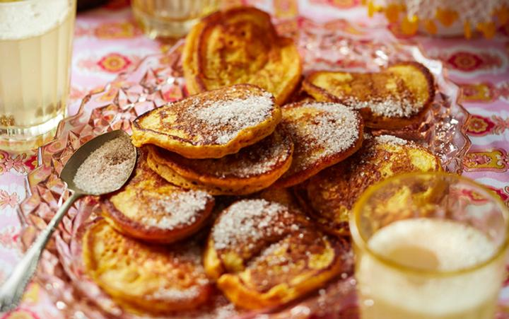 South Africa - Fried pumpkin fritters dusted with cinnamon sugar, what's not to love?
