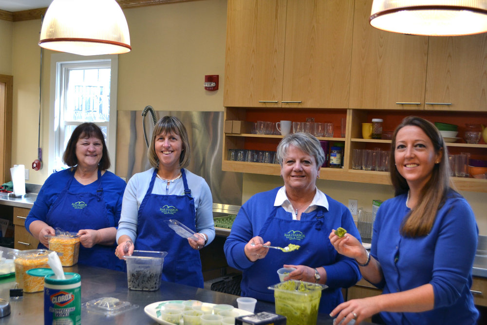 The BHBT crew (and one of our favorite Moms) was in the kitchen early on Thursday taking care of all the last minute prep.