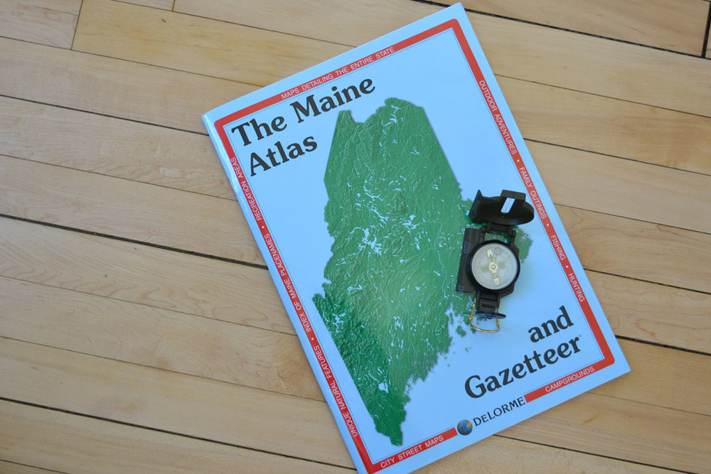 Maine Map & Compass