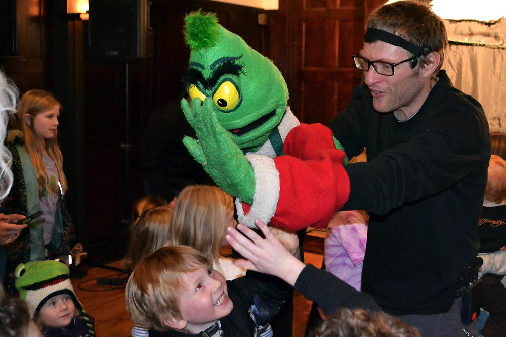 Meeting the green guy after the show…