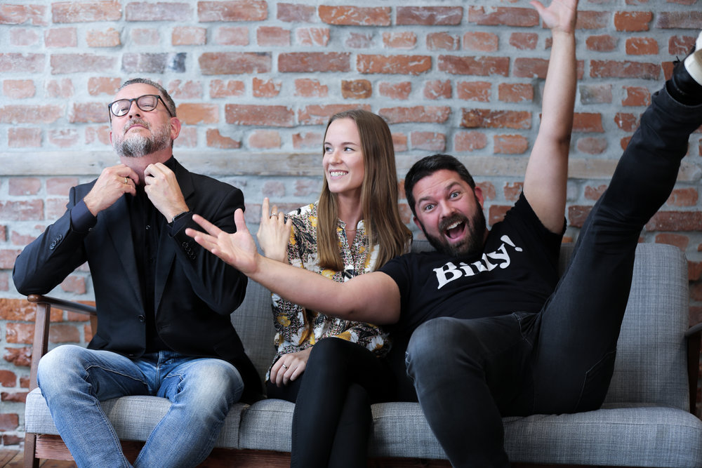 F.v.: Hans-Petter Nygård-Hansen, Rebecca P. van Vuuren og Marius Karlsen. Foto: AVIA Produksjon.