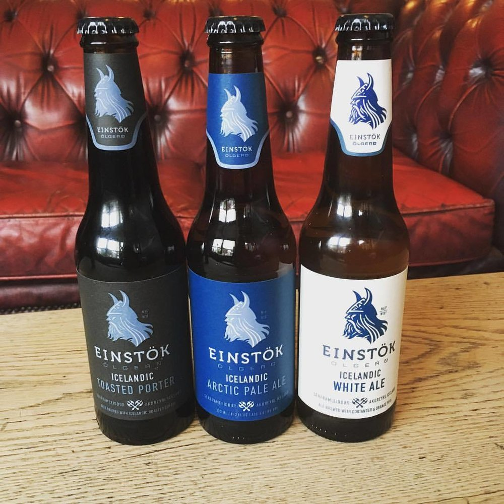 Now stocking Einstok Porter, Wheat and Pale ale ready for the weekend.