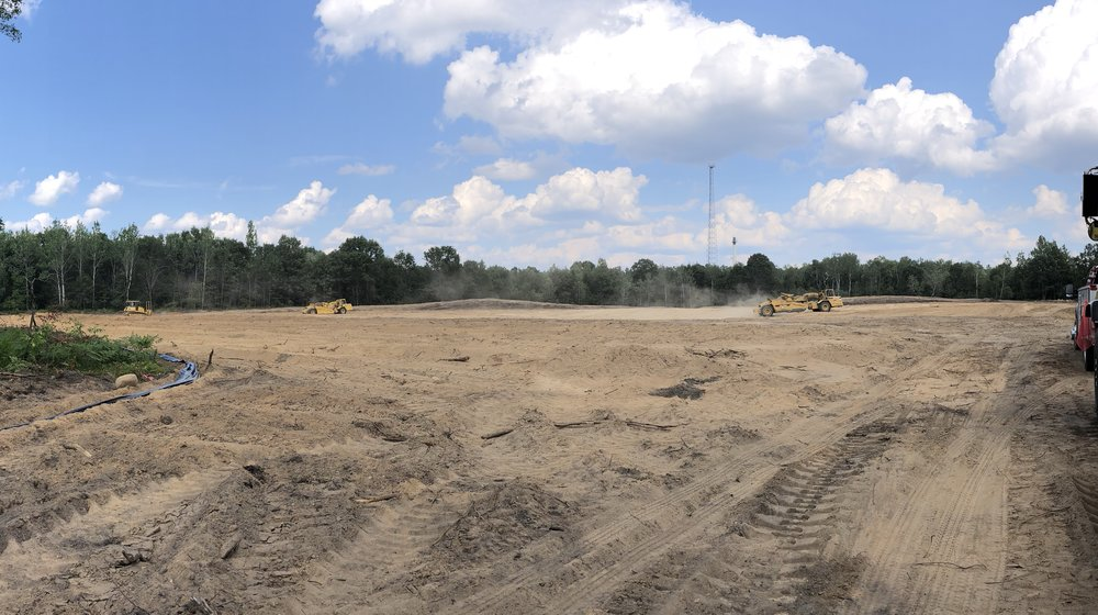 Clearing the lot at the new location in Grayling