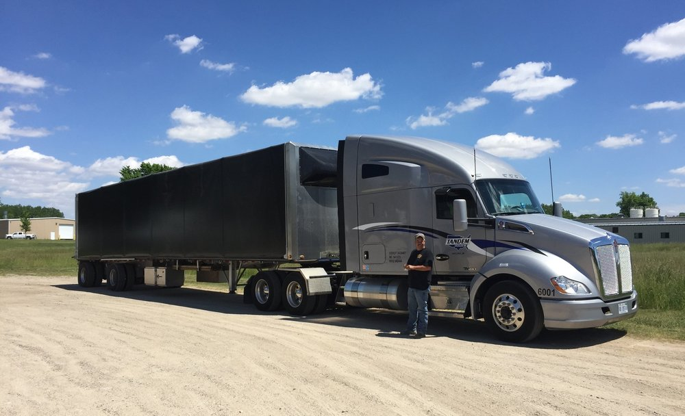 Driver with truck and trailer