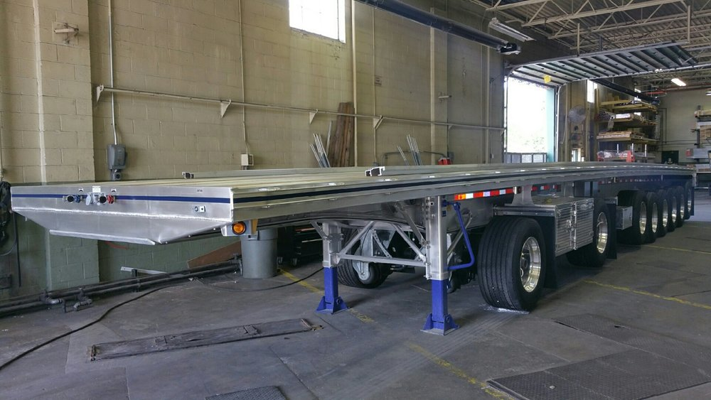 Trailer in the Gaylord shop