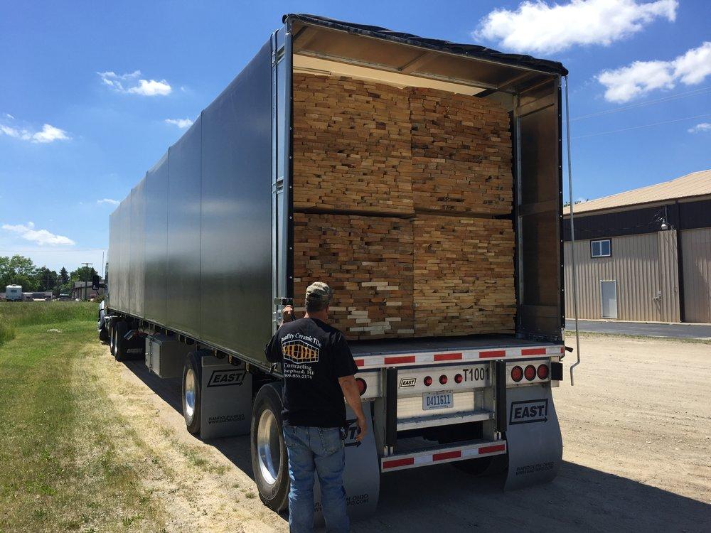 Loaded Spread Axle Conestoga