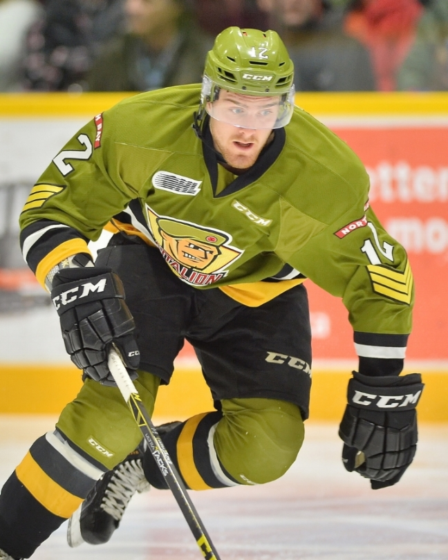 Over-ager Brett McKenzie was traded to the Owen Sound Attack. (Photo by Terry Wilson / OHL Images)