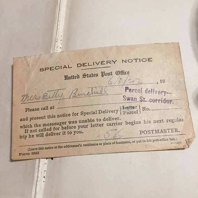 I love little ephemera findings 😊 #specialdelivery #1922