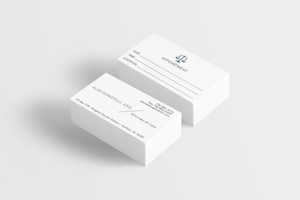 Business Card Design for Alan Donatelli,Esq.