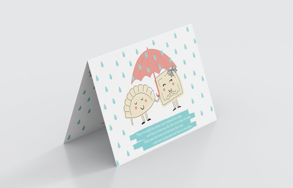 Detail: Bridal shower invites outside