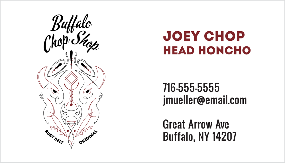 Detail: Business card front