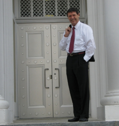 Standing at the door of the Supreme Court
