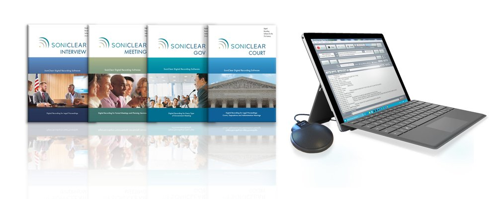 Record meetings, record interviews, court reporting software and systems