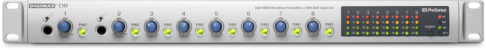 Presonus 8-Channel Preamplifier in Digikit Multichannel USB Mixer