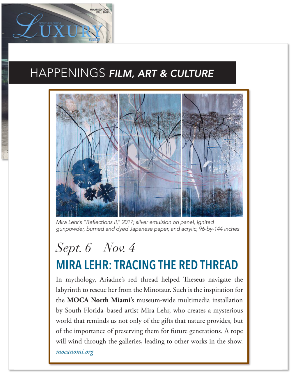 South Florida Luxury Guide (Miami)- MOCA- Mira Lehr- Fall 2018[2].png