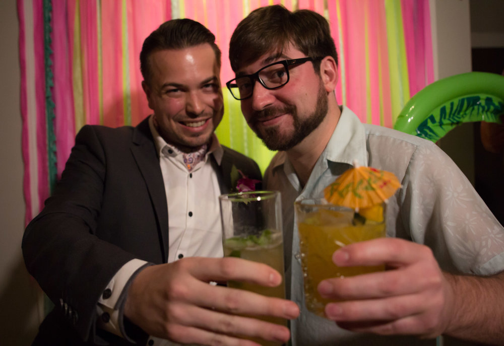 Eddy & Craig at our Dr. No party