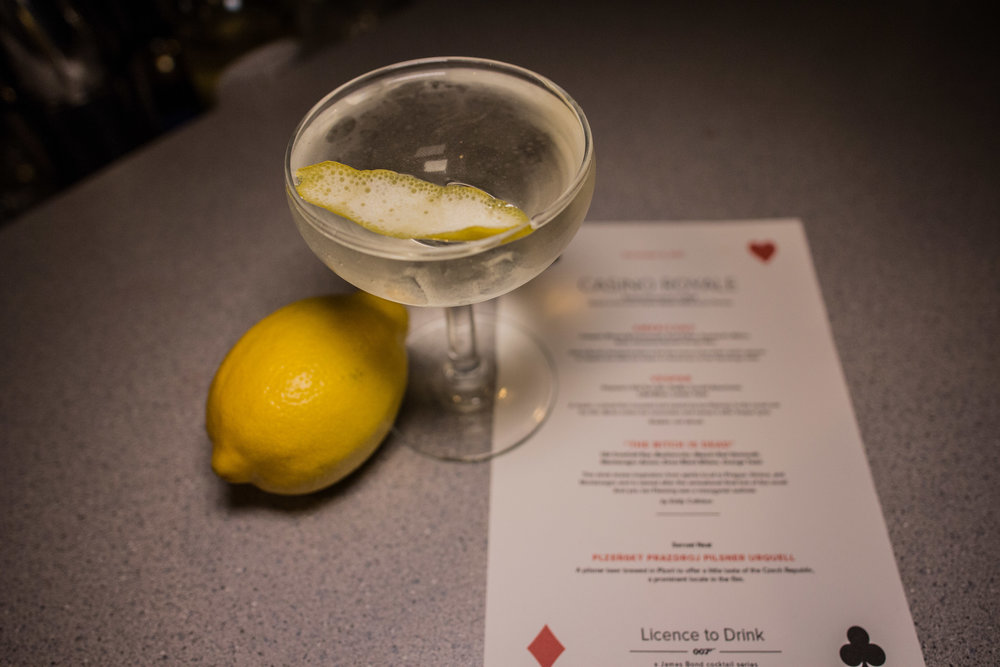 Our twist on a Vesper. Photos by Justin Lang.