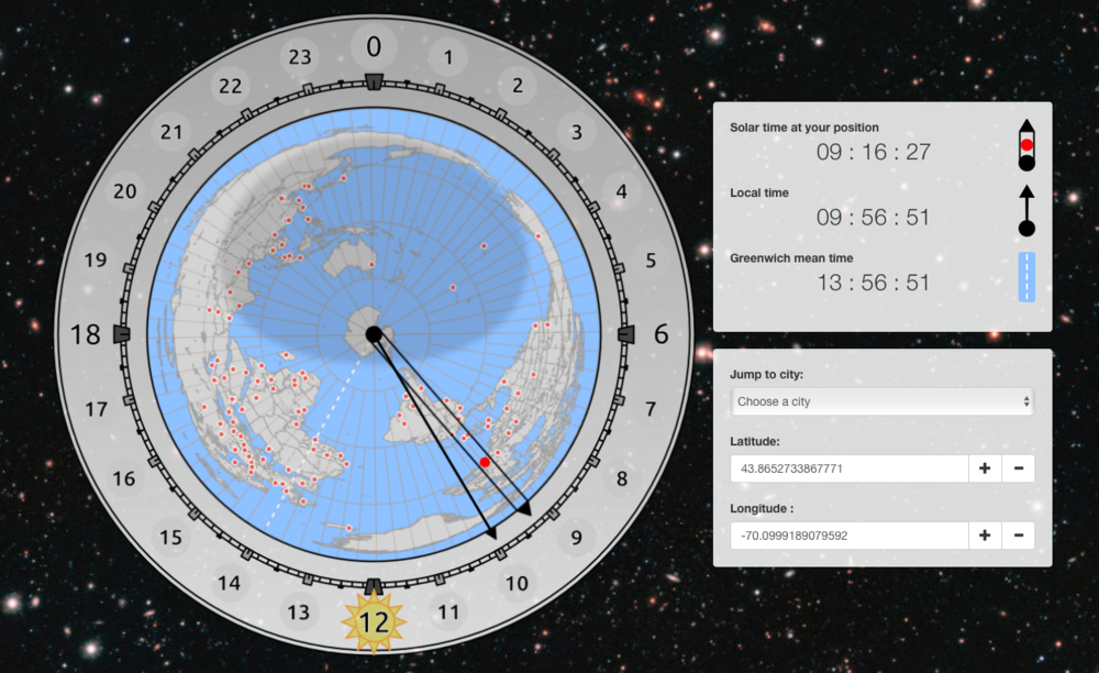 A screen capture of the Chronogeoscope, 5 July 2018