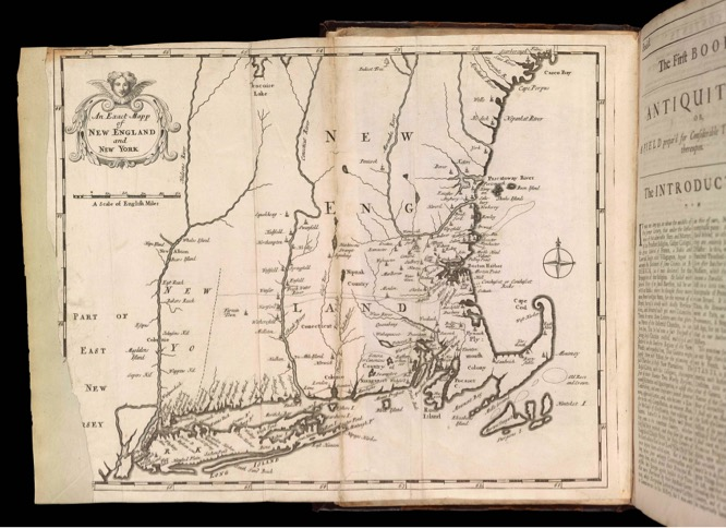 An Exact Mapp of New England and New York , in Cotton Mather,  Magnalia Christi Americana  (London, 1702), vol. 1 Osher Map Library and Smith Center for Cartographic Education, University of Southern Maine; www.oshermaps.org/map/1807.0006