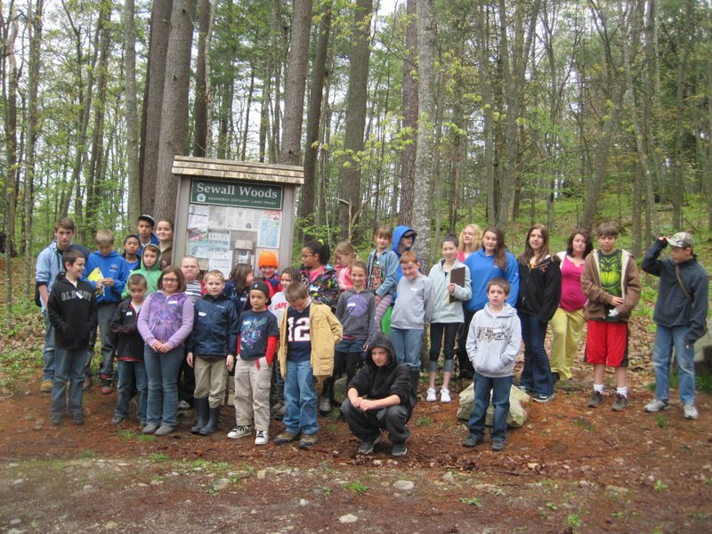 Students visit the preserve in 2012 to create a digital interpretive trail.