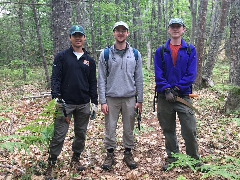 Rhyan (far right) with fellow Regional Field Team members Xander Bartone and Jaron Cook (left to right).