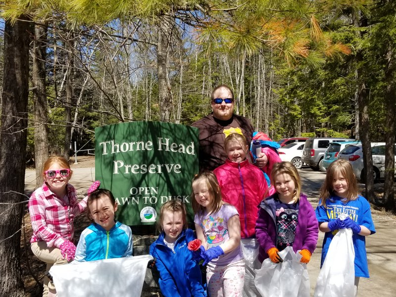 In spring 2018, a local Girl Scout Troop cleans up trash on Earth Day.