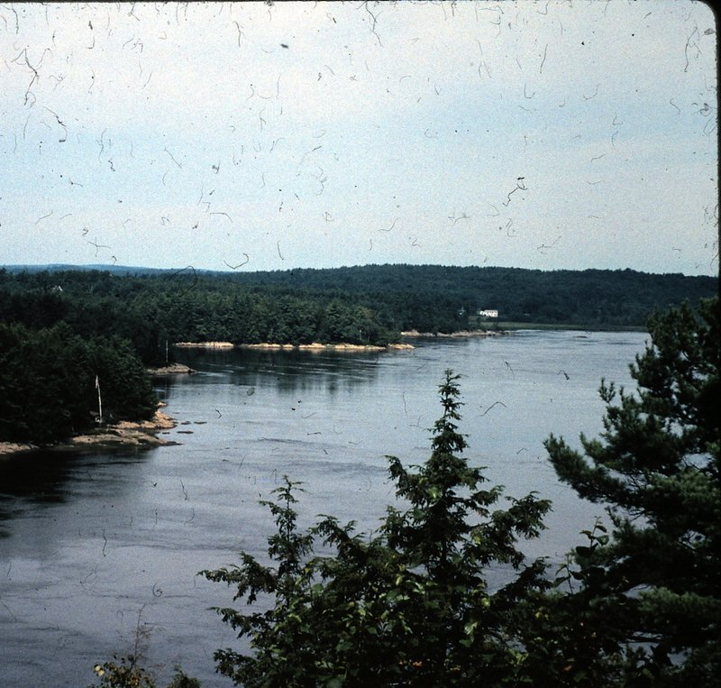 View of the Kennebec River as it meets Whiskeag Creek in 1998.