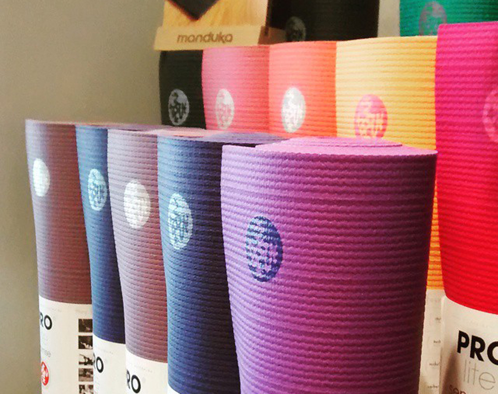 Full line of premium Manduka(r) Yoga Mats and Accessories