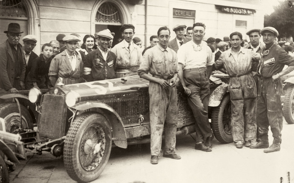 "Enzo Ferrari's driving career ended in August, 1931 at Italy's Circuit of the Three Provinces, where he drove an Alfa Romeo 8C to a second-place finish behind the great Tazio Nuvolari, his Scuderia Ferrari teammate. At the end of the race the winner genuinely and sincerely praised the runner-up. ""In order to beat you,"" Tazio told Enzo that afternoon, ""I had to work harder than I've ever done before."""