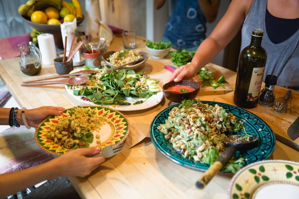 Lunch Spread at Hamptons Weekend Retreat August 2018