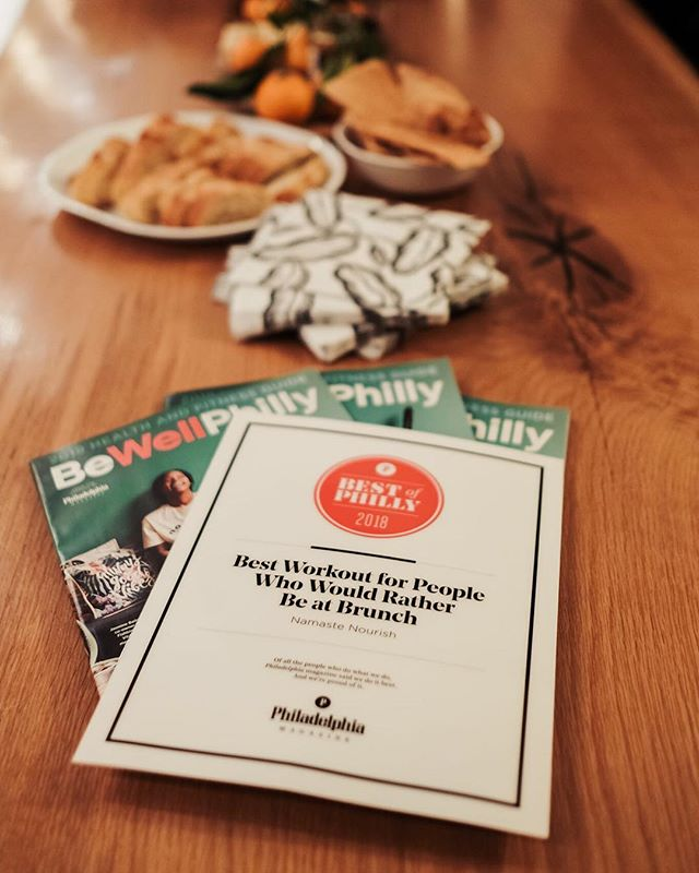 b e s t o f p h i l l y ➿ We can't look back this year and forget to mention the humbling title that @phillymag granted us! Thank you to @bewellphilly and @phillymag for deeming us one of Best Of Philly 2018. We are forever thankful for this amazing community for allowing us to do what we love. ➿ 📷@ringthealam ➿ #namastenourish #bestofphilly #beyondthefood #createyourown #2018highlights #retreatyourself
