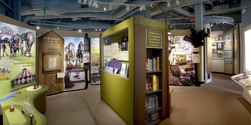 arabian horse galleries at kentucky horse park