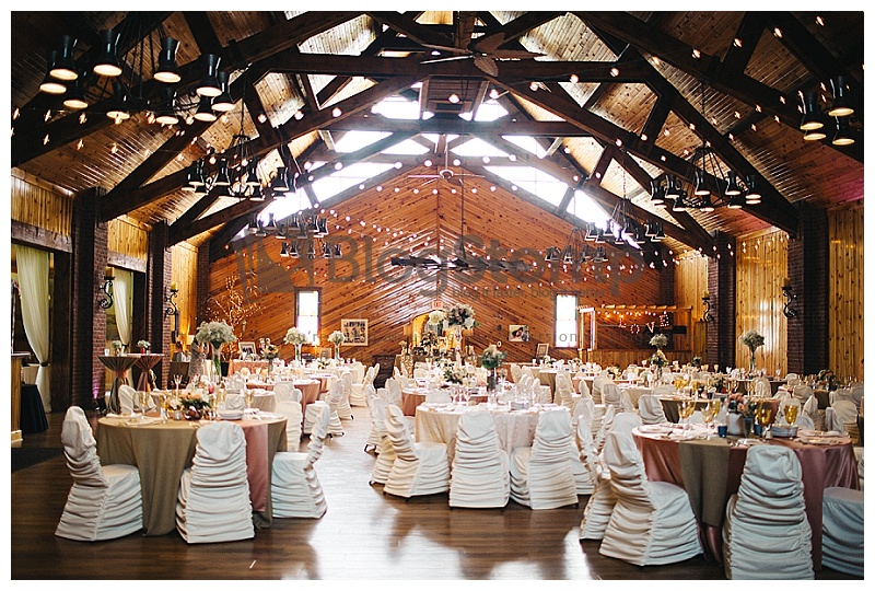 Venue: Little Log House Cafe Lights, Rouge Chair Covers, and Draping: We've Got It Covered