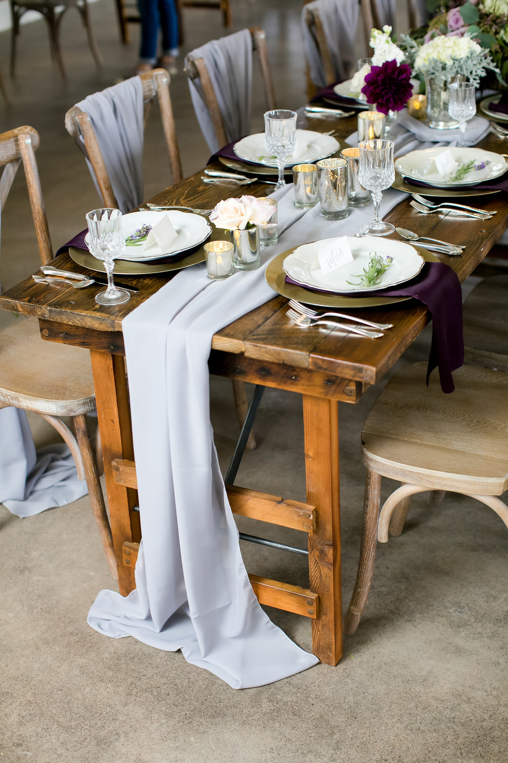 Head table wedding inspiration at Minnesota Farm Venue / Table Runners