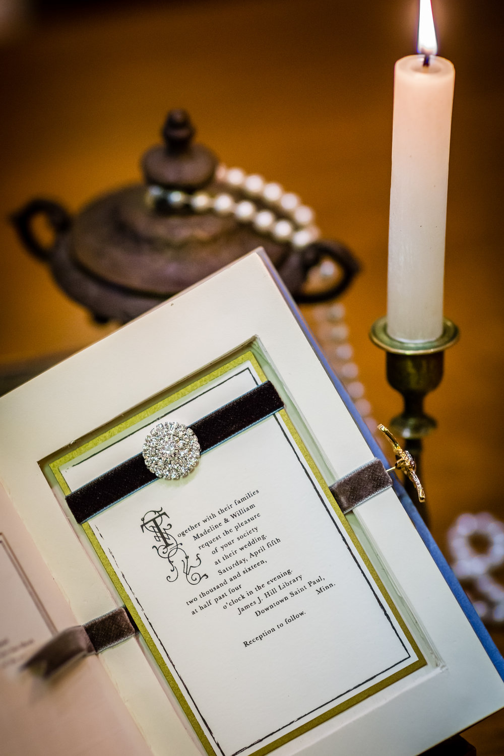 invite to a literary themed wedding