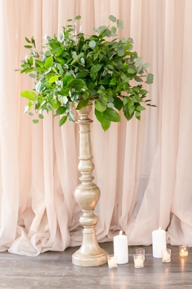 cylinder vase trio with floating candles