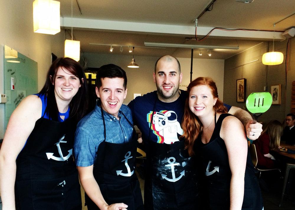 The Island team. Left to right: Angie Cullingworth, Dustin Weeres, Andrew Scott, Desareé Larsen