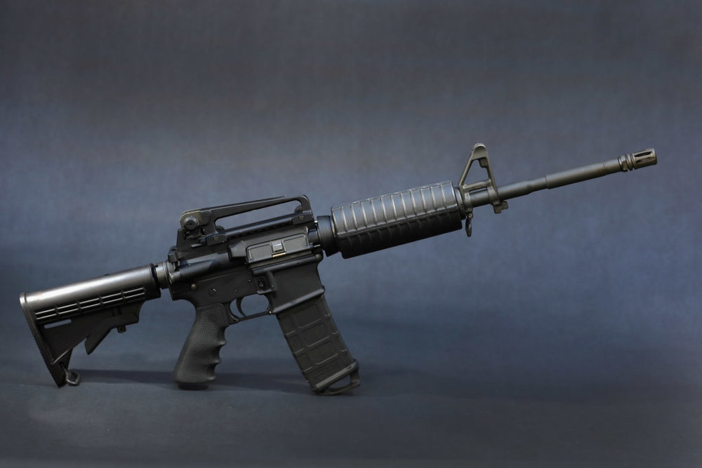 AR-15, popular weapon of choice.