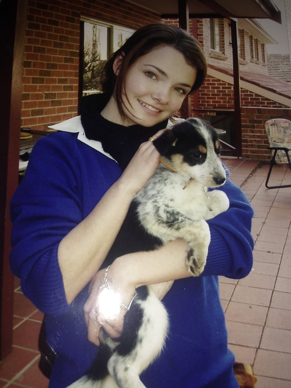 Roxy with me, the day she joined our family. See? Cute, huh?