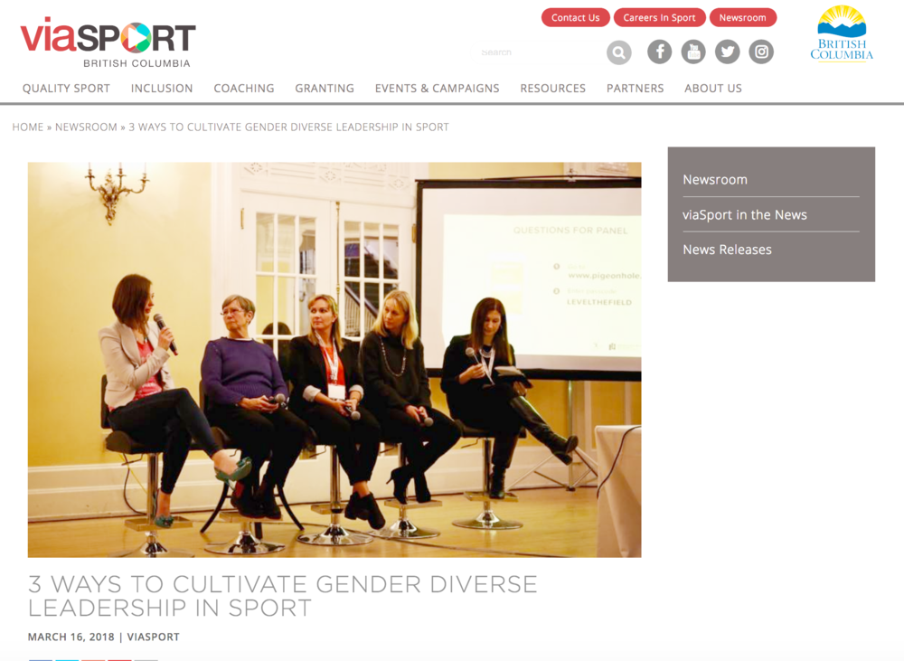 Dr.   Shaunna Taylor discusses ways to cultivate the leadership of women in sport