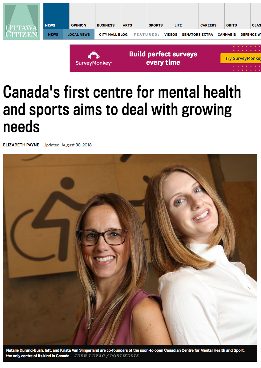 Canada's first centre for mental health and sports aims to deal with growing needs