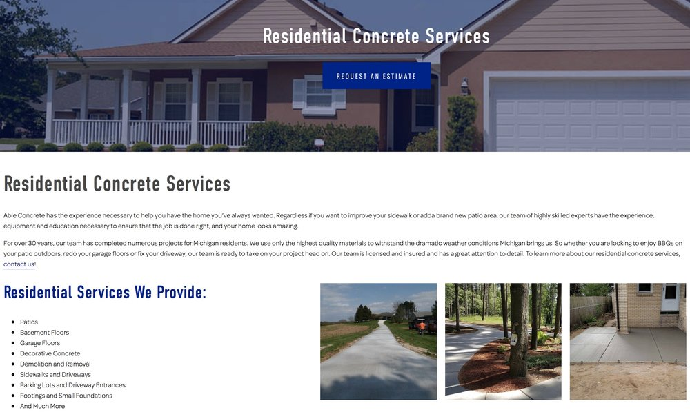 Able Concrete - Residential Services