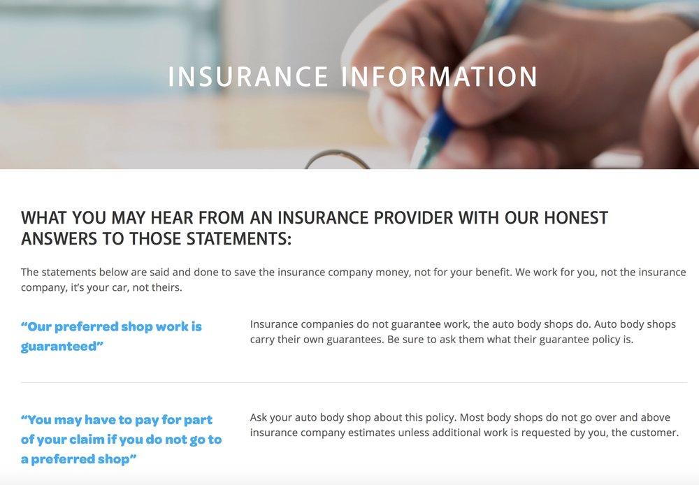 Joe's Body Insurance Information